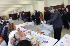 地方选举在土耳其。 库存照片