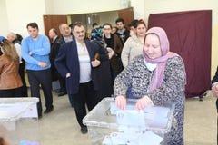 地方选举在土耳其。 免版税库存照片