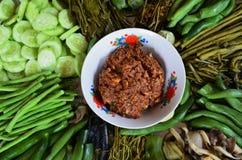 地方食物在泰国 免版税库存照片