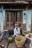 地方食物市场在Tiruvannamalai 免版税图库摄影