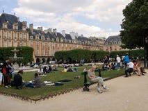 地方des孚日省在巴黎在春天 库存图片