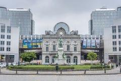 地方du卢森堡在布鲁塞尔,比利时 库存照片