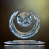 地景艺术 其本质我们的行星保护 注意用装备的这个图象的元素  免版税库存图片