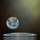 地景艺术 其本质我们的行星保护 注意用装备的这个图象的元素  库存照片
