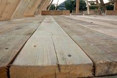 地板木屋 免版税图库摄影