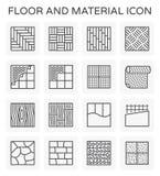 地板材料象 库存例证
