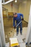 地板的环氧表面 库存图片
