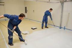 地板的环氧表面 免版税图库摄影