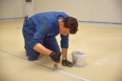 地板的环氧表面 免版税库存照片