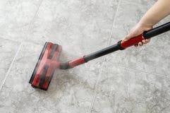 地板蒸气清洁法 库存照片