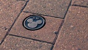 地板迪斯尼米老鼠商标 免版税库存照片