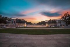 地标二战纪念喷泉 免版税库存照片