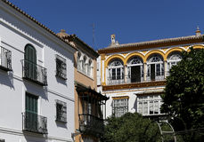 地标在塞维利亚(受联合国科教文组织的保护),安大路西亚,南西班牙的老历史中心 库存图片