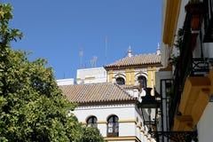 地标在塞维利亚(受联合国科教文组织的保护),安大路西亚,南西班牙的老历史中心 免版税库存图片