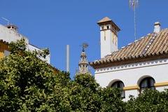 地标在塞维利亚(受联合国科教文组织的保护),安大路西亚,南西班牙的老历史中心 库存照片