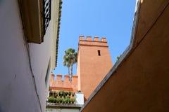 地标在塞维利亚(受联合国科教文组织的保护),安大路西亚,南西班牙的老历史中心 免版税库存照片
