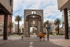 地标城堡门-普埃尔塔de la Ciudadela -蒙得维的亚 库存图片