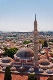 地标清真寺suleiman的罗得斯 库存图片
