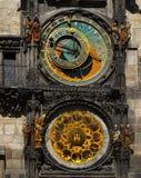 地标著名天文学时钟布拉格标志联合国科教文组织遗产 库存照片