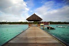 地标马尔代夫 免版税库存照片