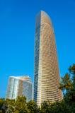 地标,一个后现代的supertall摩天大楼 图库摄影