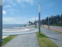 地标,Prachuap Khiri Khan Pranburi海滩 免版税库存图片
