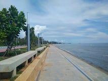 地标,Prachuap Khiri Khan Pranburi海滩 免版税库存照片