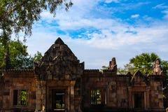 地标Prasat Muang Tam历史公园在泰国 免版税库存图片
