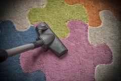 地毯吸尘 免版税库存照片