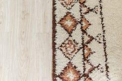 地毯和木条地板 库存图片