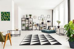 地毯在客厅 图库摄影