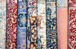 地毯在摩洛哥,东方摩洛哥ornamets 免版税图库摄影