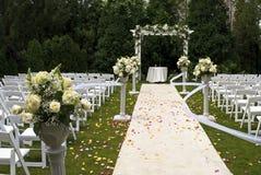地毯婚礼 库存照片