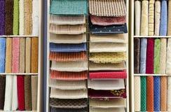 地毯存储 库存图片
