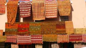 地毯市场在马拉喀什 免版税图库摄影