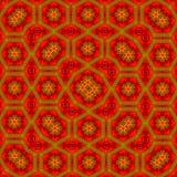 地毯或地毯的红色和黄色明亮的印刷品 图库摄影