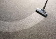 地毯擦净剂顶层真空视图 免版税库存照片