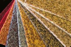 地毯样片 图库摄影