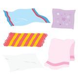 地毯毛巾板料餐巾手帕旧布织品布料动画片传染媒介 库存例证