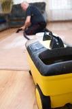 地毯清洁专业人员 库存图片