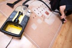 地毯清洁专业人员 免版税库存图片