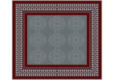 地毯的精美样式在grayÂ和酒的树荫的 免版税库存图片