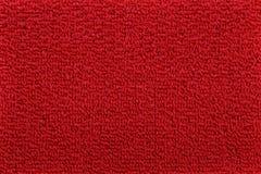 地毯红色纹理 免版税库存照片