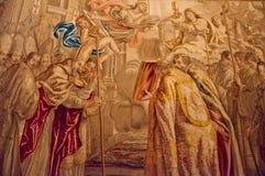 地毯绘画在梵蒂冈 免版税图库摄影