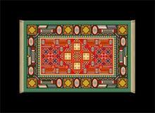 地毯绿色红色 免版税库存图片