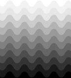 轻轻地淡光从黑暗的单色波浪样式到光 几何抽象的背景 库存照片