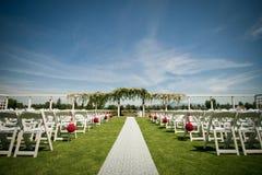 地点婚礼 免版税库存照片