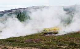 地热冰岛横向 免版税库存图片