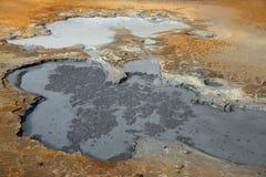 地热区域Krysuvik和Seltun 免版税图库摄影