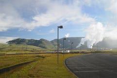 地热工厂 库存图片